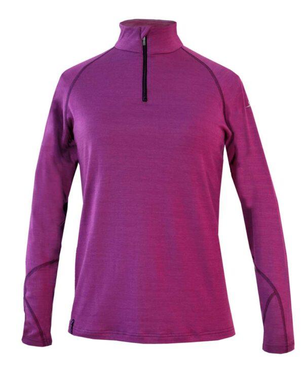 Funktioneller Pullover für verschiedene Outdoorsportarten wie Skitouren, Schneeschuhwandern und Skifahren