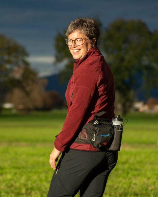 Hüfttasche zum Wandern, Biken, Spazieren oder sonstige Outdooraktivitäten, bei denen man nicht viel mitnehmen muss.