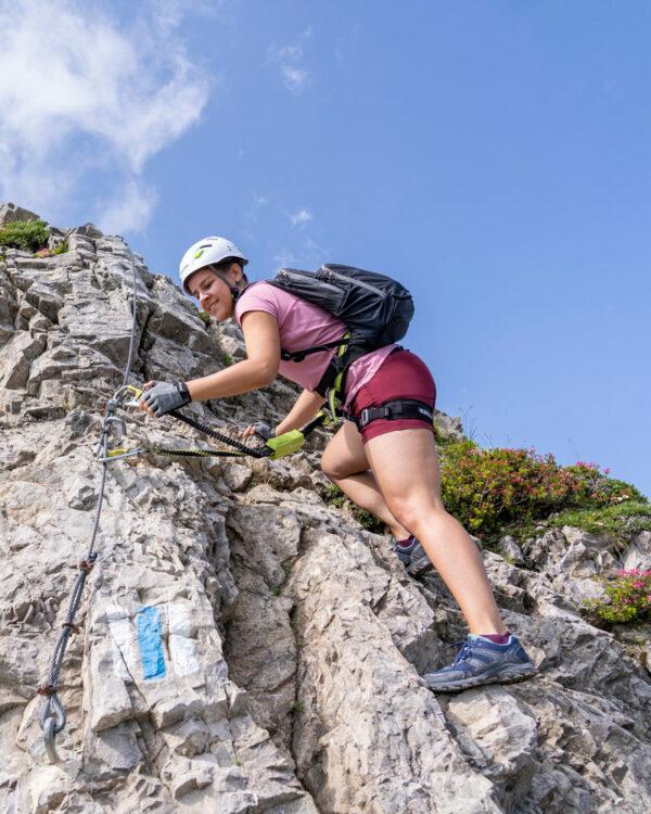 Unterwegs auf das Karhorn über den Klettersteig