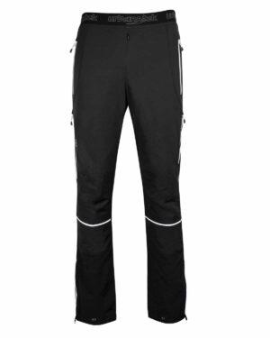 Skitourenhose aus elastischem und atmungsaktivenPontetortomaterial. Besonders geeignet für warme Tage. Seitliche Belüftungen mit Innennetz. Verstellbarer Beinabschluss mit Windfang.