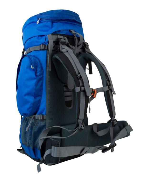 Rückenansicht des Trekkingrucksack Traveler mit 50 Liter Volumen