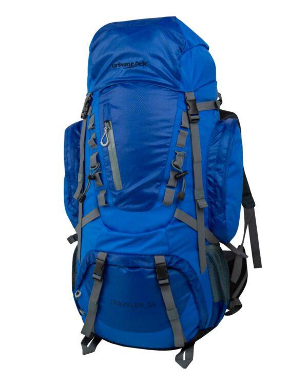 Reise- und Trekkingrucksack Traveller 50. Der Rucksack verfügt über 50 Liter Volumen, welche noch erweiterbar sind.