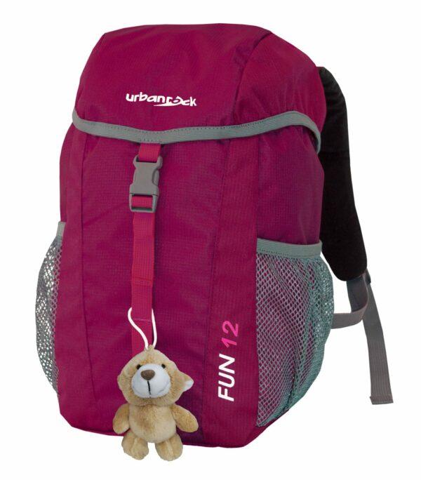 Kinderrucksack mit Stofftier für Wanderungen