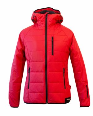 Isolationsjacke Manaslu in rot für Damen. Zum Skifahren und Skitouren geeignet.