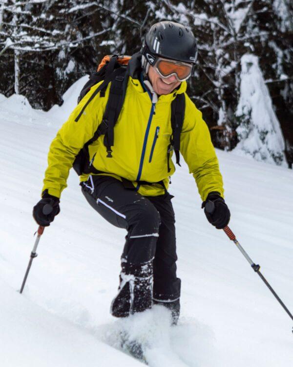 Skitour am Brüggelekopf in Vorarlberg, Österreich