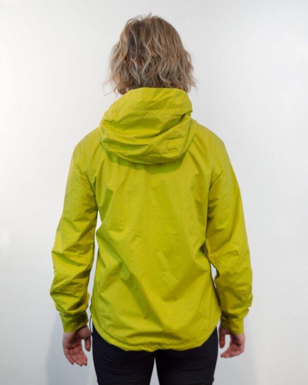 Rückenansicht von wasser- und winddichten Unisex-Outdoorjacke