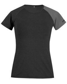 Produktbild des Funktionsshirt Piona, aus dem Material TENCEL™/Lyocell und Baumwolle in schwarz/grau