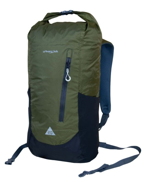 Rucksack Drypack 20 - Bequem, leicht, wasserdicht, modisch in oliv.