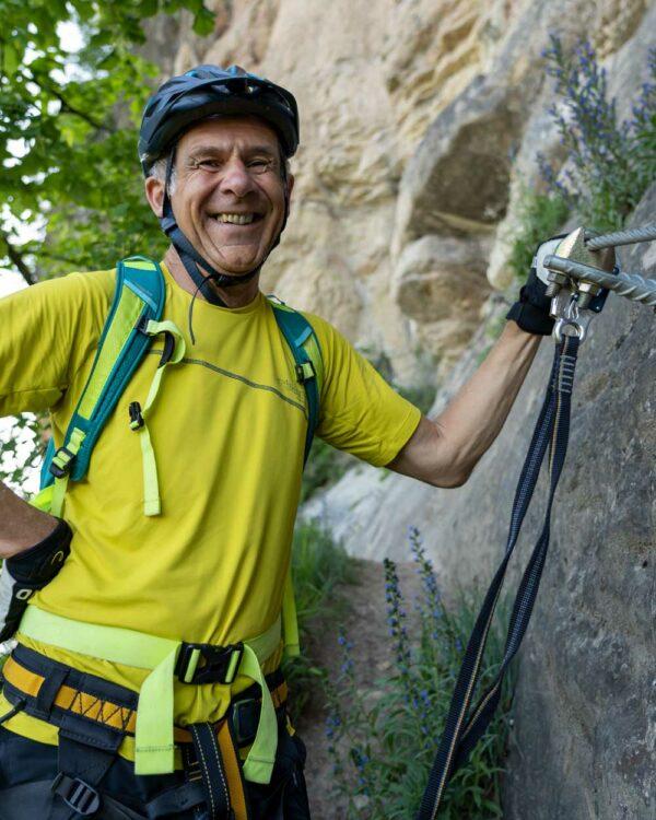 Davenna men gelb klettersteig
