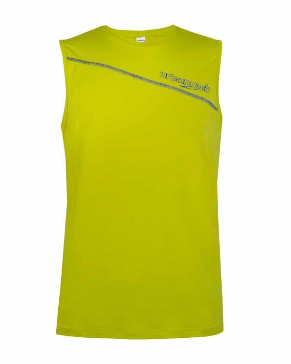 Polyamidshirt in Gelb für Herren. Für verschiedene Sportarten geeignet.