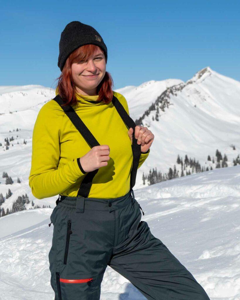 Laterns Gapfohla Skitour mit Pullover in citronelle