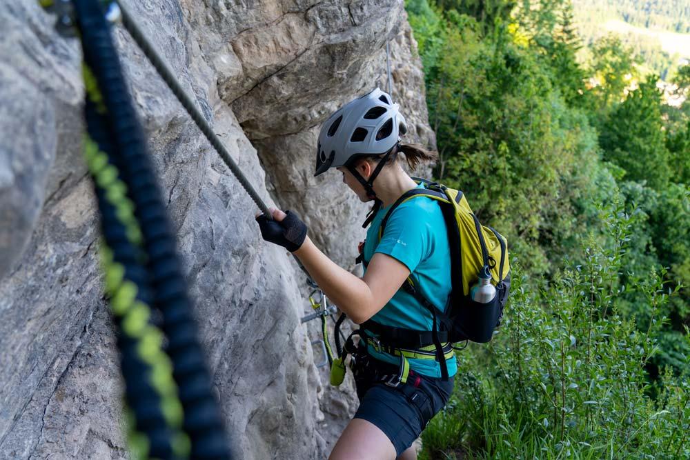 Klettern am Klettersteig Känzele in Bregenz